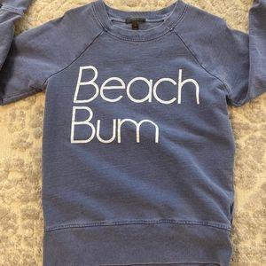 J. Crew Blue Beach Bum sweatshirt, S
